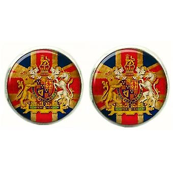Bassin and Brown Vintage Union Jack Flag Cufflinks - Red/White/Blue