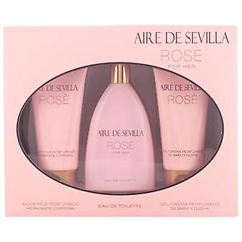 Aire De Sevilla Rose Cologne Pack 3 Pieces (Perfumes , Packs)
