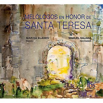 Galiana, Manuel / Blanes - Melologos En ære De Santa Teresa [CD] USA import