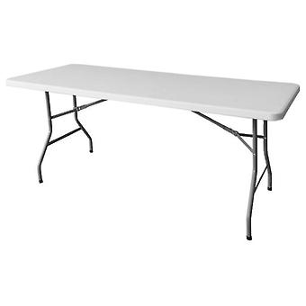 Ldk Rectangular folding table hdpe white 200x90x74 cm