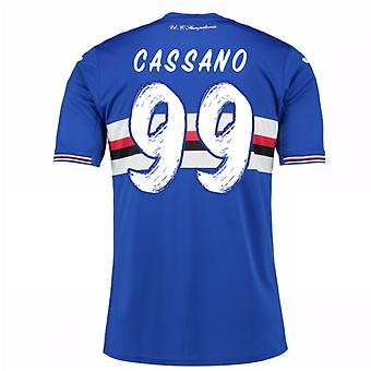 2016 / 17 Sampdoria Home Shirt (Cassano 99) - Kinder