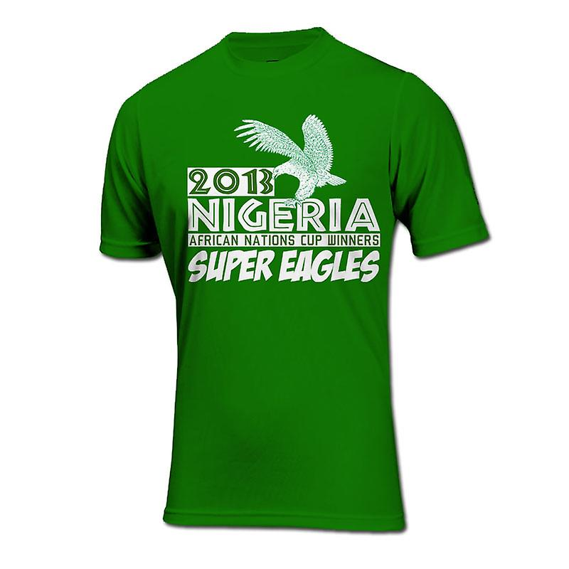 2013 Nigeria African Nations Winners T-Shirt (Green)