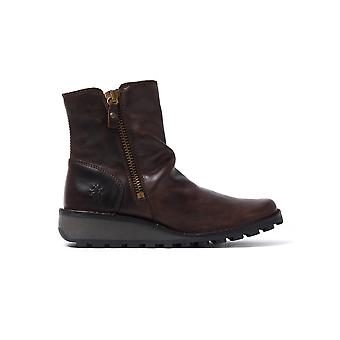 Women's Mong Boots - Dark Brown Leather