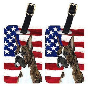 Carolines skatter SS4035BT par i USA amerikanska flaggan med Boxer bagagebrickor