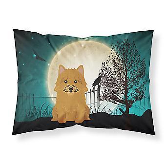 Halloween Scary Norwich Terrier Fabric Standard Pillowcase