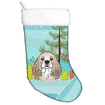 Christmas Tree and Cocker Spaniel Christmas Stocking
