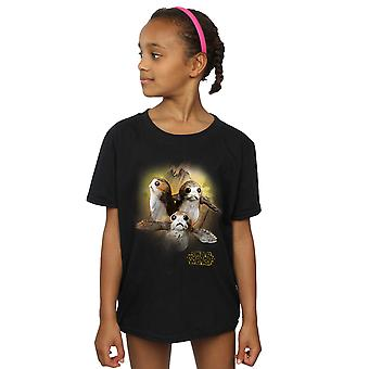 Star Wars Girls The Last Jedi Porgs Brushed T-Shirt
