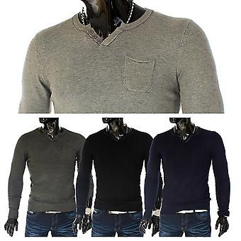 Men's sweater knitted patch sweat shirt elbow fabric patch Sweatshirt