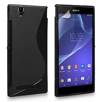 Caseflex Sony Xperia T2 Ultra Silicone Gel S-Line Case - Black