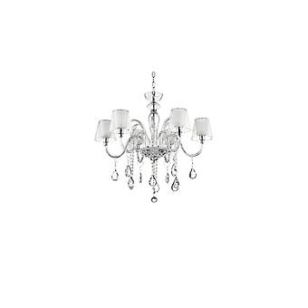Ideal Lux - Terry Clear Glass Six lustre lumière Idl112398