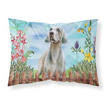 Weimaraner Spring Fabric Standard Pillowcase