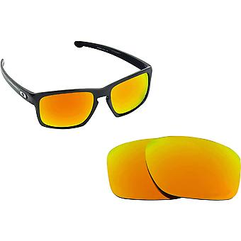 SLIVER Asian Fit Replacement Lenses Gold Mirror by SEEK fits OAKLEY Sunglasses