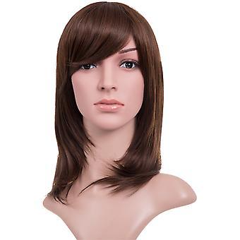 Alice Medium Length Straight Layer Cut Full Head Wig