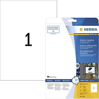 Herma 9500 Labels (A4) 210 x 297 mm PE film White 10 pc(s) Permanent All-purpose labels, Weatherproof labels