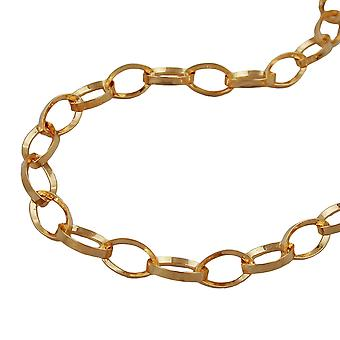Anchor chain gold plated bracelet