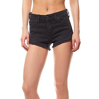 Lee frayed women's Hotpant shorts black