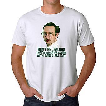 Napoleon Dynamite Babes All Day Men's White Funny T-shirt