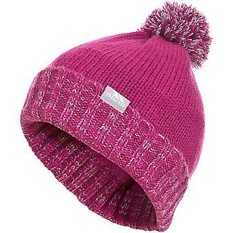 Trespass Boys & Girls Nefti Knitted Pom Pom Fleece Lined Beanie Hat