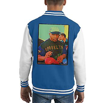 Mike Tyson handtekeningen Brooklyn Warrior Posterization Kid's Varsity Jacket