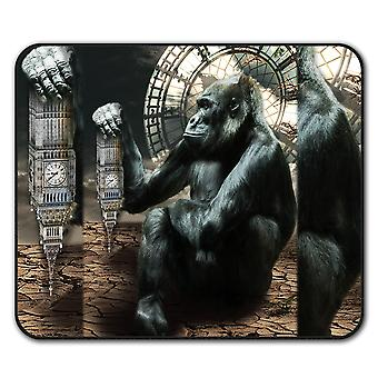 Big Ben Gorilla UK Animal  Non-Slip Mouse Mat Pad 24cm x 20cm | Wellcoda