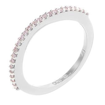 Orphelia plata 925 anillo doble rosa circonio ZR-3763-2