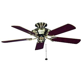 Ceiling Fan Mayfair antique brass with pull cord 107 cm / 42