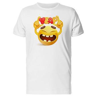 Very Happy Yeap Emoji Tee Men's -Image by Shutterstock