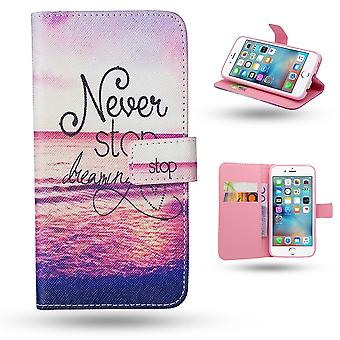 iPhone 6/6S-Case/wallet Leather-Never Stop Dreaming ...