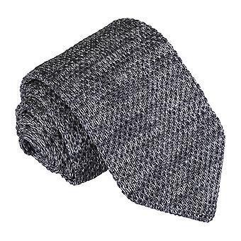 Grey Melange Plain Speckled Knitted Slim Tie