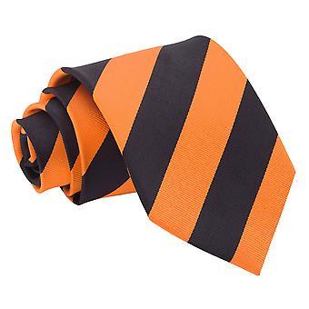 Orange & svart randig klassiska slips