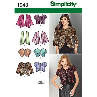 Simplicity Misses' Knit And Woven Jackets Sewing Pattern-6-8-10-12-14
