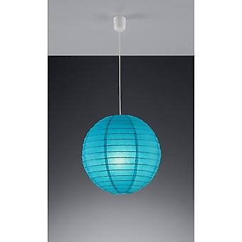 Trio Lighting Paper Young Living Turquoise Paper Pendant