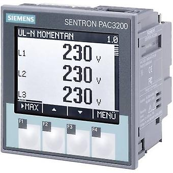 Digital rack-mount meter Siemens SENTRON PAC3200 Multifunctional measuring apparatus SENTRON PAC3200 Max. 3 x 690/400 V AC Assembly dimensions 92 mm x 92 mm
