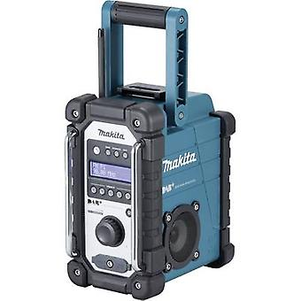 Makita DMR110 DAB+ Workplace radio DAB+, FM, AUX splashproof Black, Turquoise