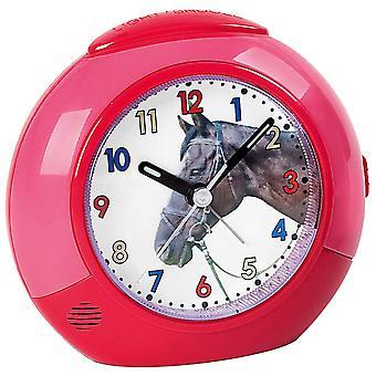 Atlanta 1984/1 alarm clock horse for children children alarm clock pink red quiet horse alarm clock