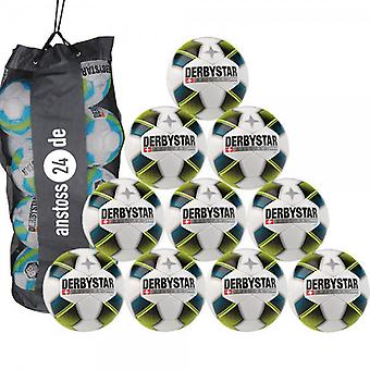 10 x DERBY STAR youth ball - brilliant LIGHT includes ball sack