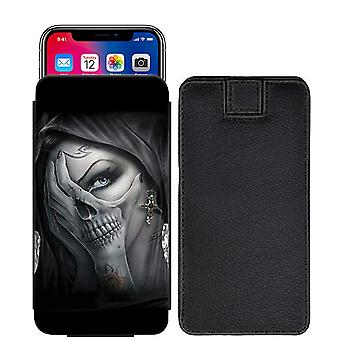 Skull Custom Designed Printed Pull Tab Pouch Phone Case Cover for verykool s5007 Lotus Plus [S] - skull39_web