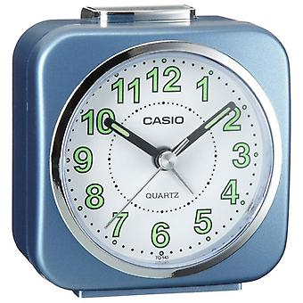 Casio TQ143S-2 Travel/Portable Alarm Clock with Light and Snooze - Blue