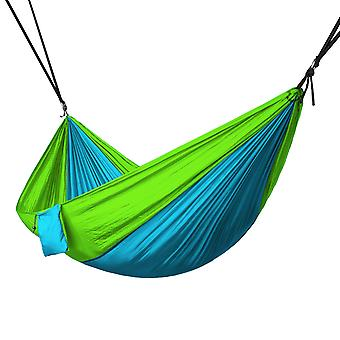 Portable 2 Person Hammock Rope Hanging Swing Camping - Light Blue & Fruit Green