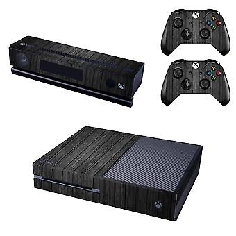 REYTID Black Wood Effect Xbox One Console Skin / Sticker + 2 x Controller Decals & Kinect Wrap - Full Set - Microsoft XB1