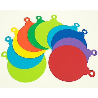 30 Card Christmas Bauble Shapes - Mixed Colours |  Kids No Mess Crafts