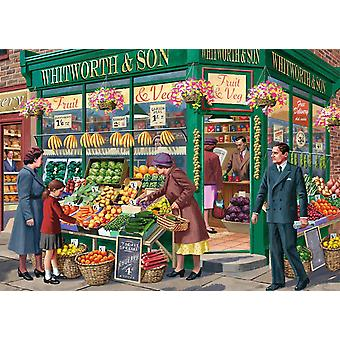 Falcon Deluxe The Greengrocer Jigsaw Puzzle (1000 Pieces)