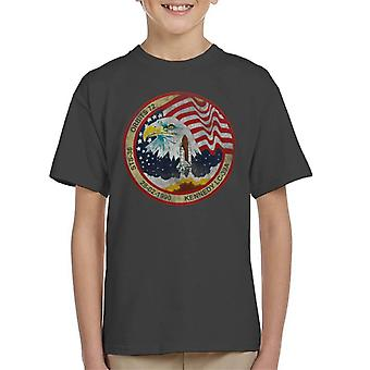 NASA STS 36 Atlantis Mission Badge Distressed Kid's T-Shirt