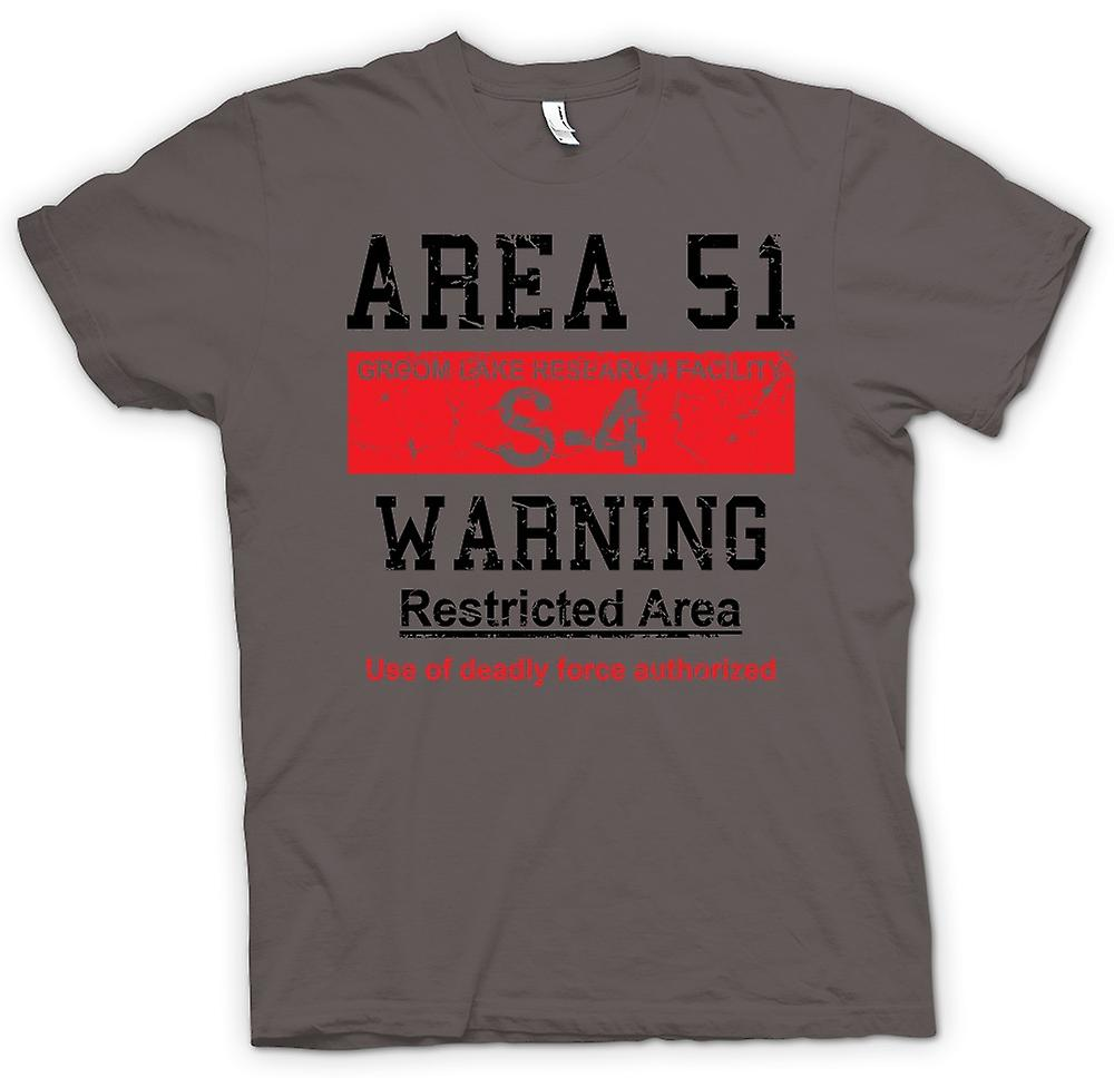 Womens T-shirt - Area 51 Sign - UFO - Conspiracy