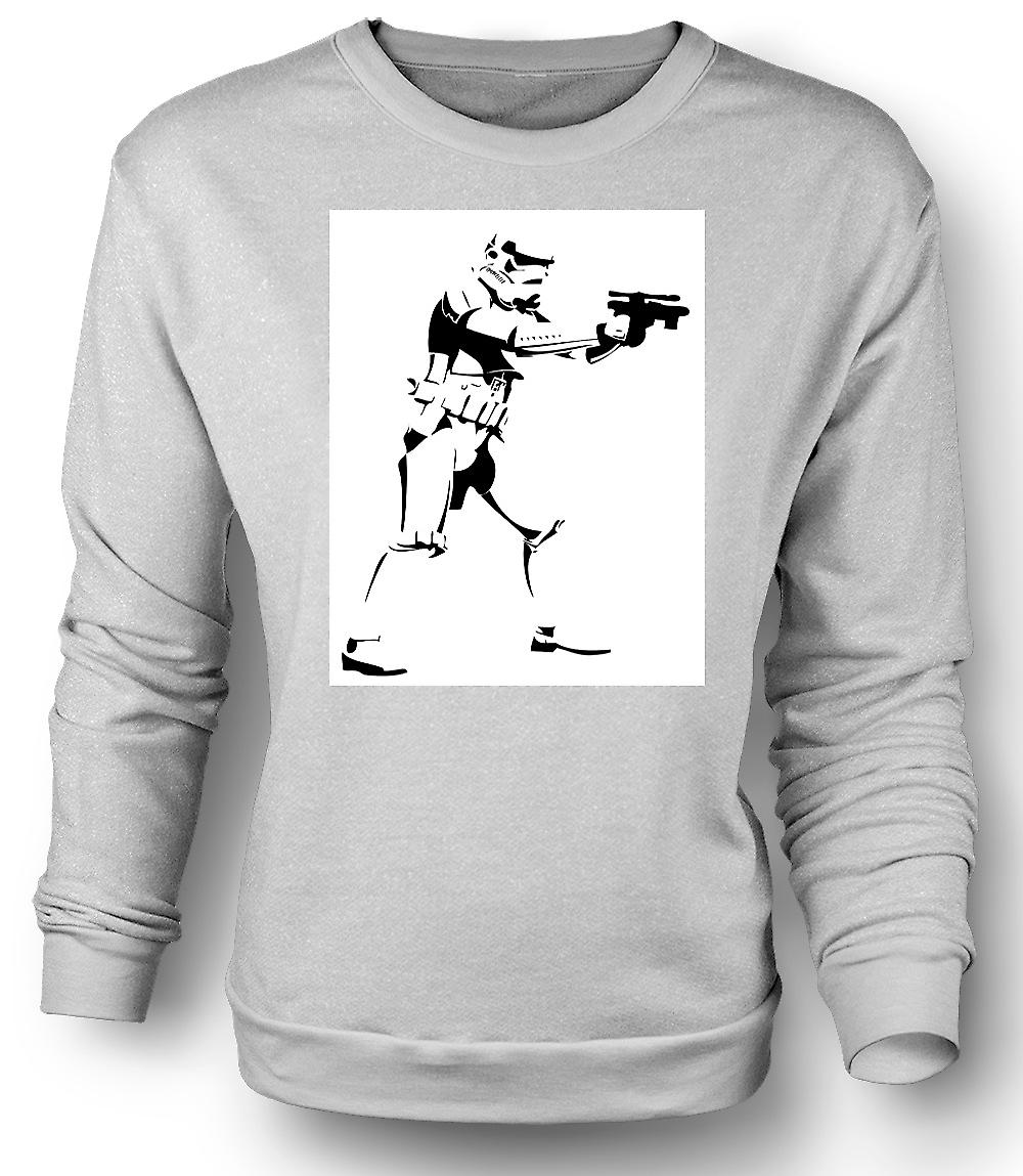 Mens Sweatshirt Star Wars - Storm Trooper - Pop Art