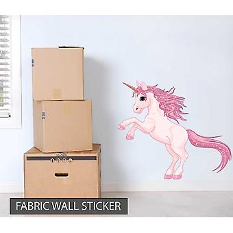 Fabric Reusable Wall Decal Colourful Unicorn
