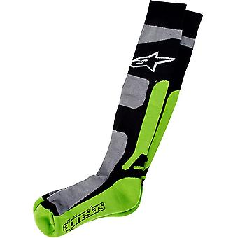 Alpinestars Grey-Black-Green 2014 Tech Coolmax MX Socks