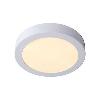 Lucide Brice-LED Modern Round Aluminum White Flush Ceiling Light