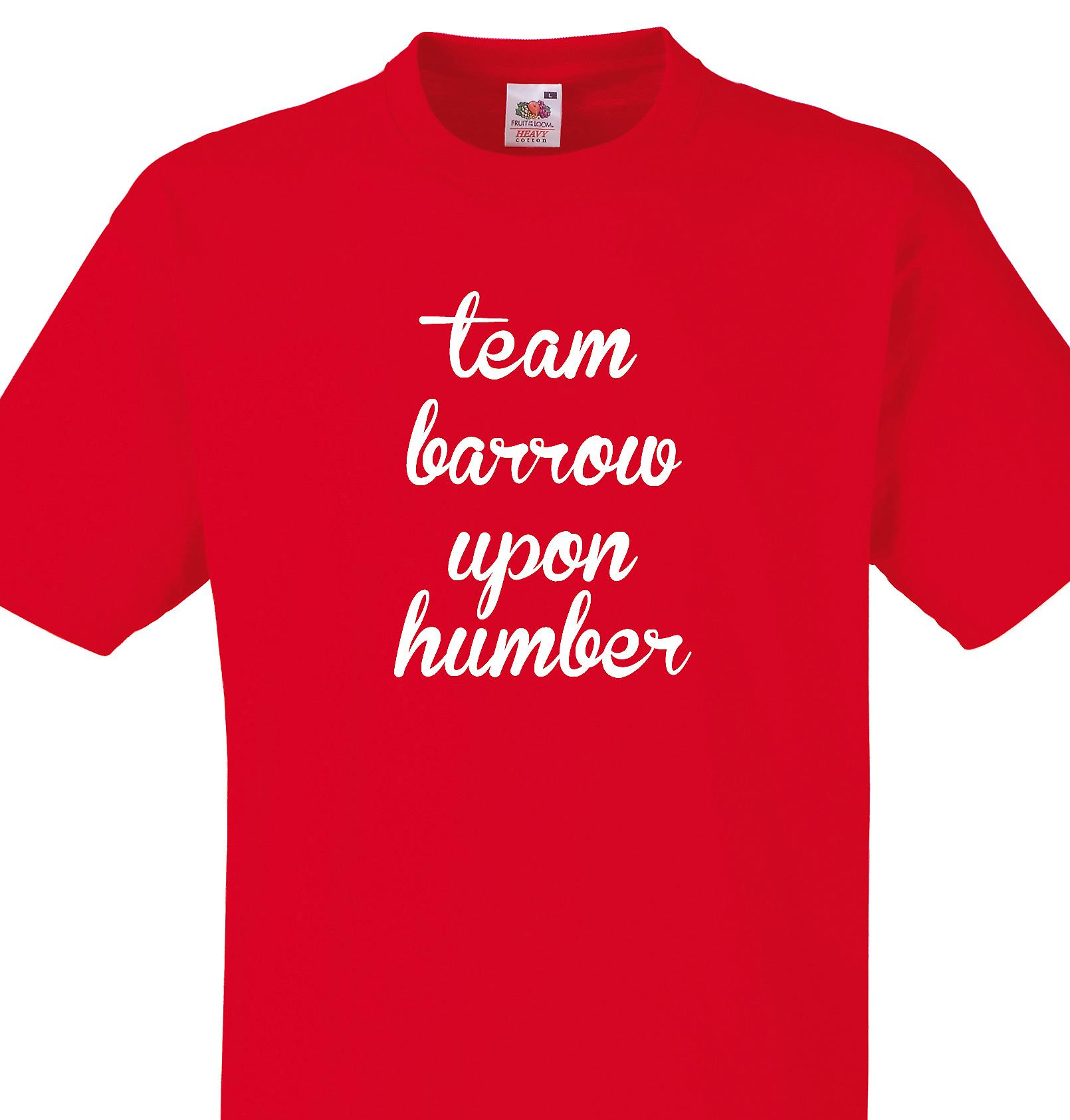 Team Barrow upon humber Red T shirt