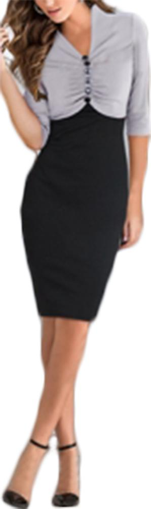Waooh - Short Dress Two-tone Egan